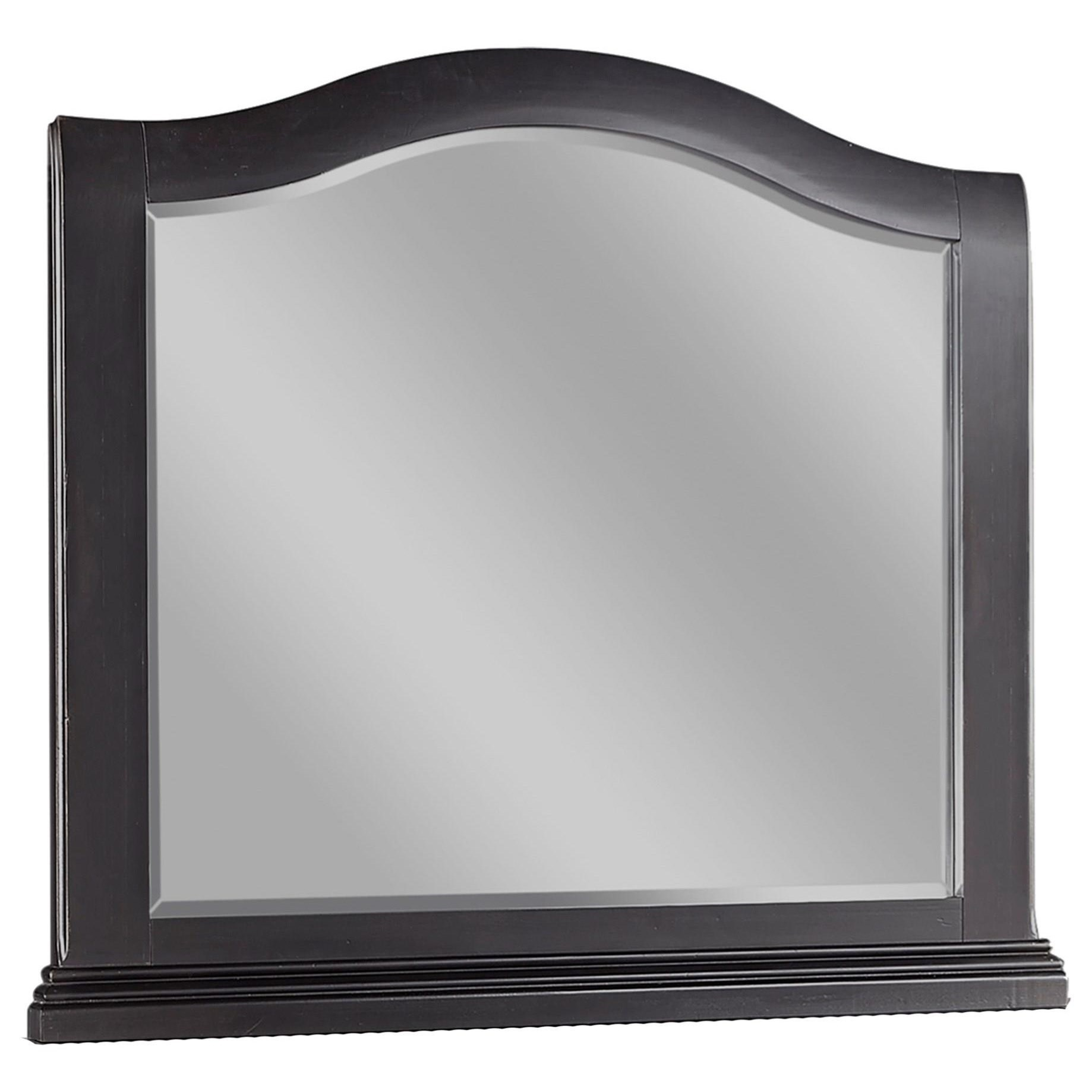Transitional Landscape Mirror with Arched Design