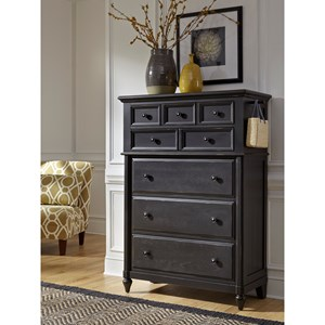 5 Drawer Chest with Felt Lined Tip Drawer