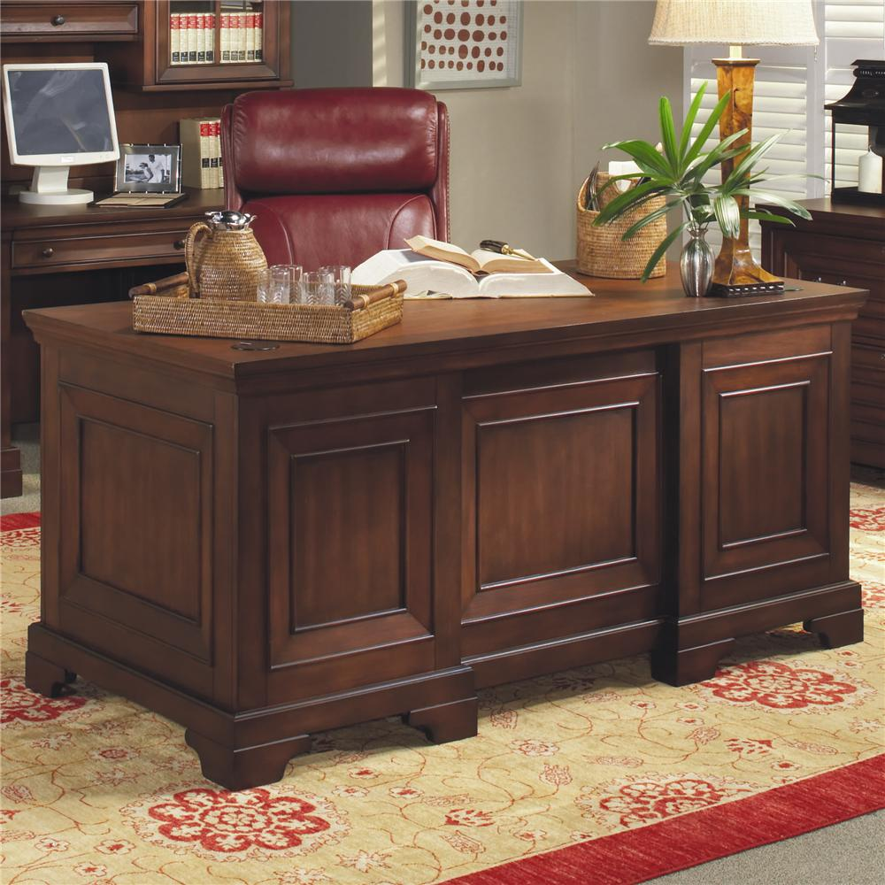 66 Inch Double Pedestal Executive Desk By Aspenhome Wolf