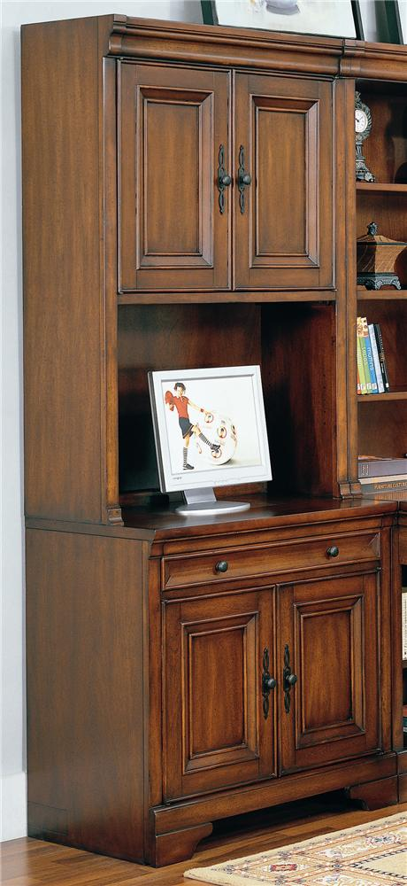 34 Inch Credenza Computer Desk And Door Hutch By Aspenhome