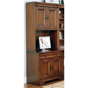 34 Inch Credenza Computer Desk and Door Hutch