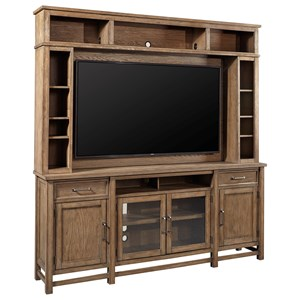 Casual Entertainment Console and Hutch with TV Mounting Bracket