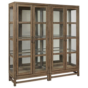 Casual Curio Cabinet with Tough Lighting