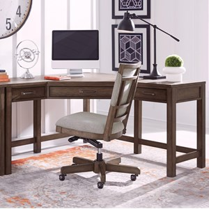 Casual Corner Desk with Outlets and USB Port