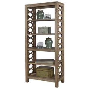 Bookcase/Room Divider with 5 Shelves