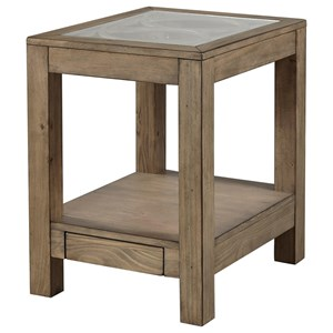 Chairside Table with Power Outlets