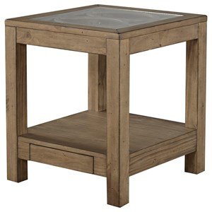 End Table with Power Outlet