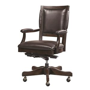 Aspenhome Viewscape Bonded Leather Arm Chair