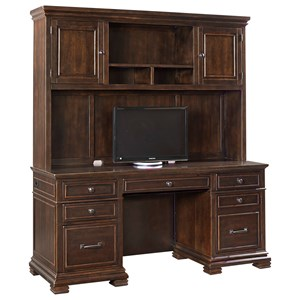Credenza with Hutch and Charging Station