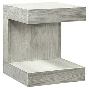 Transitional End Table with Lower Open Shelf