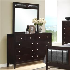 Austin Group Bell 8 Drawer Dresser & Mirror