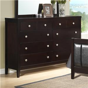 Austin Group Bell 8 Drawer Dresser