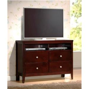 Austin Group Bell 4 Drawer TV Chest