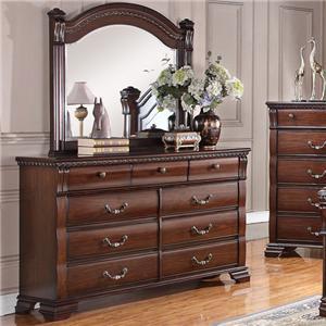 Austin Group Isabella 527 Dresser + Mirror