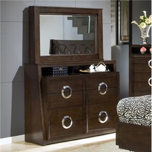 Austin Group Presley 520 TV Dresser + Mirror