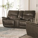 Console Power Reclining Love Seat