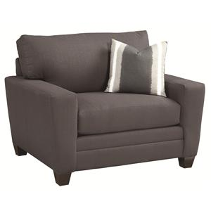 Bassett 3844 Upholstered Chair and a Half