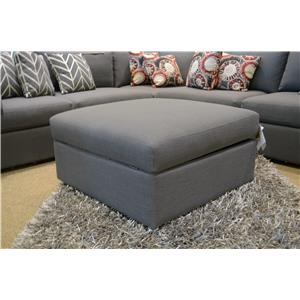 Bassett Beckham 3974 Storage Ottoman in Charcoal