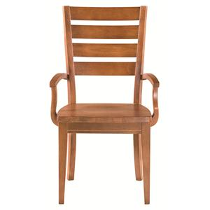 Bassett Custom Dining 4469 Low Arm Chair