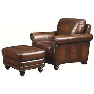 Bassett Hamilton Chair and Ottoman