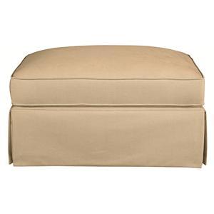 Bassett Custom Upholstery - Townhouse <b>Custom</b> Ottoman