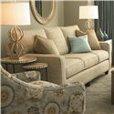 Bassett Custom Upholstery - Townhouse <b>Customizable</b> Queen Sleeper with Track Arms and Full Front