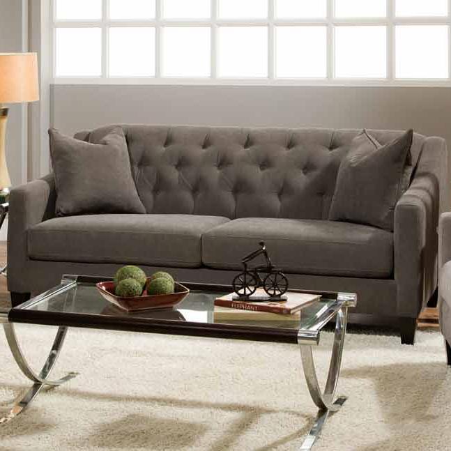Etonnant Stationary Sofa W/ Tufted Back