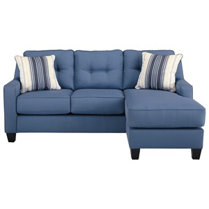 Contemporary Sofa Chaise in Performance Fabric