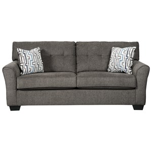 Contemporary Full Sofa Sleeper with Tufted Back
