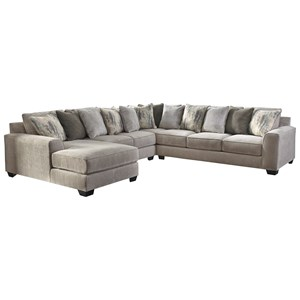 Contemporary 4-Piece Sectional with Left Chaise