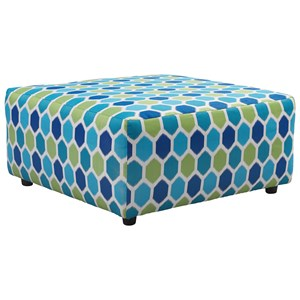 Oversized Accent Ottoman in Performance Fabric