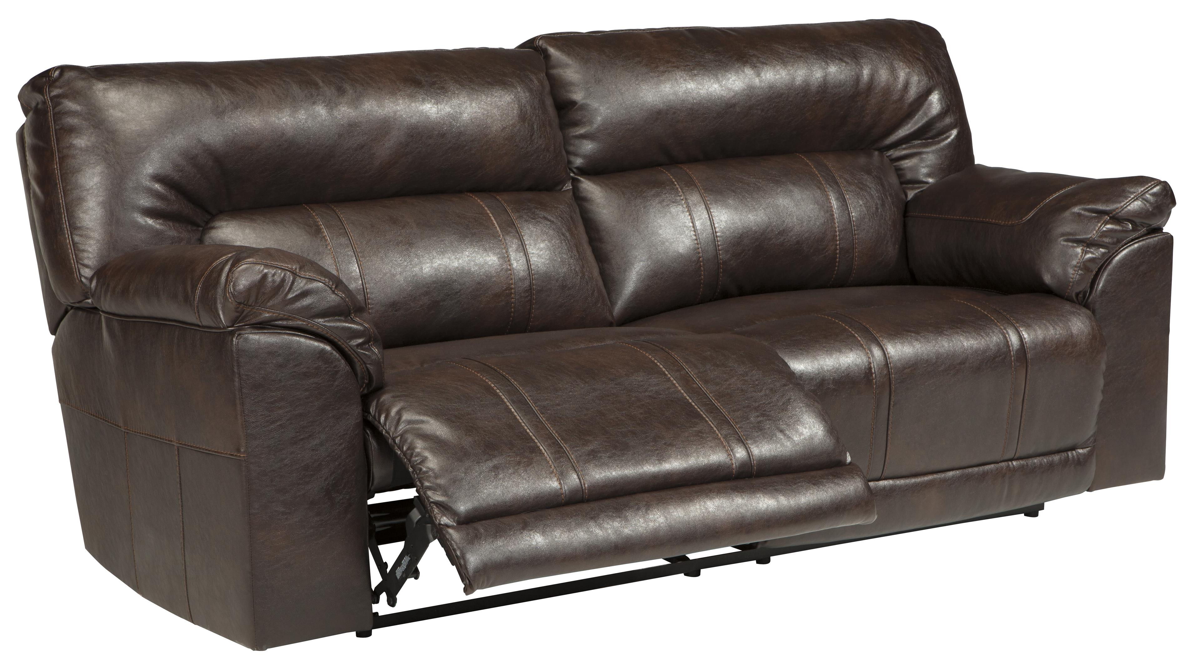 Faux Leather 2 Seat Reclining Sofa By Benchcraft Wolf And Gardiner Wolf Furniture