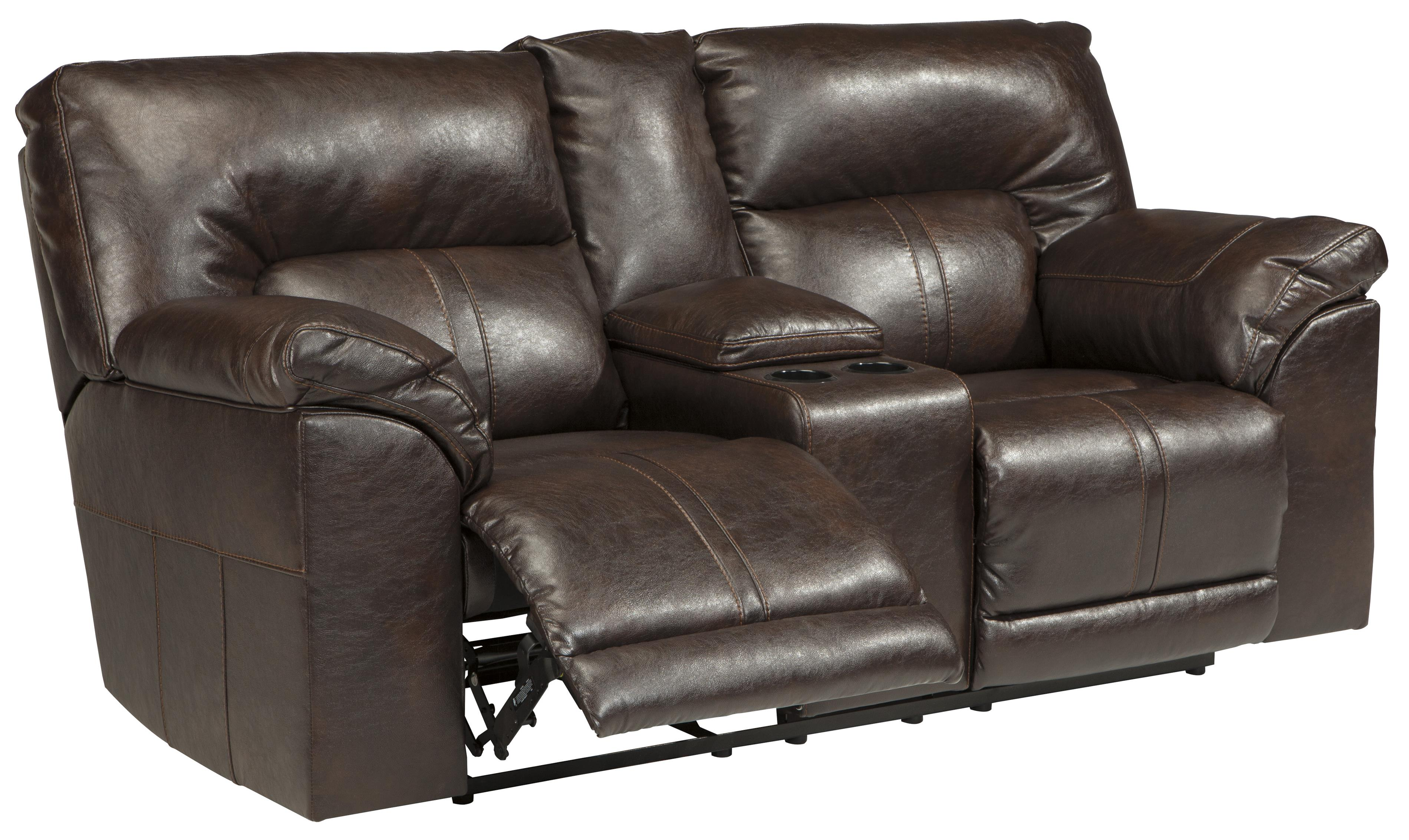 Double Reclining Loveseat W Console By Benchcraft Wolf And Gardiner Wolf Furniture