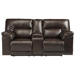 Ashley Barrettsville DuraBlend® Double Reclining Loveseat w/ Console