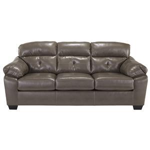 Benchcraft Bastrop DuraBlend - Steel Sofa