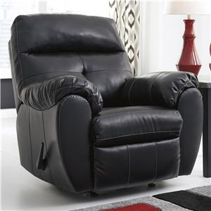 Benchcraft Bastrop DuraBlend - Midnight Rocker Recliner