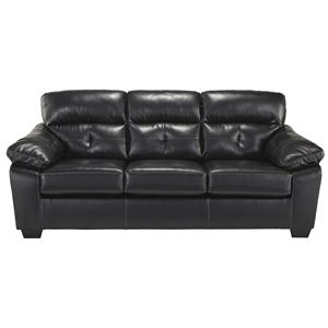 Contemporary Bonded Leather Match Full Sofa Sleeper