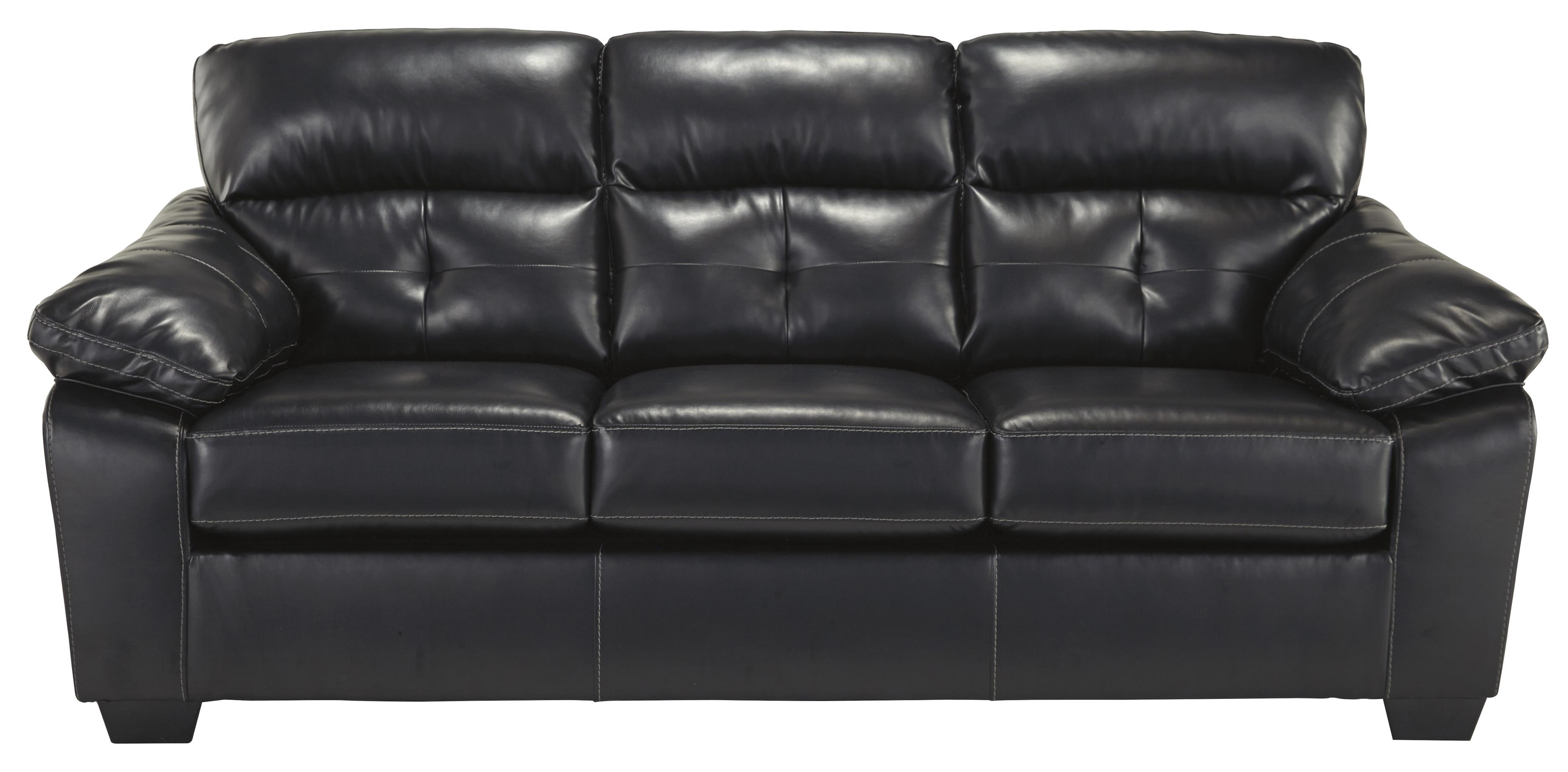 Contemporary Faux Leather Sofa by Benchcraft
