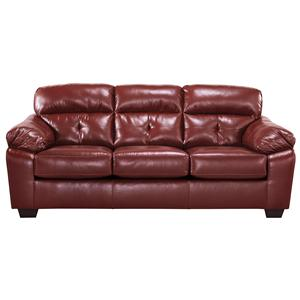Benchcraft Bastrop DuraBlend - Crimson Full Sofa Sleeper