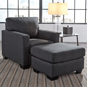 Contemporary Chair U0026 Ottoman