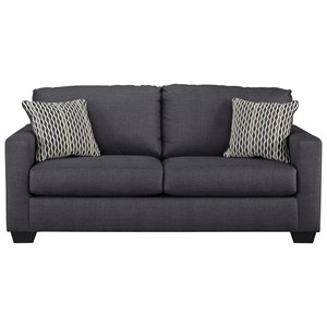 Contemporary Full Sofa Sleeper with Memory Foam Mattress & Track Arms
