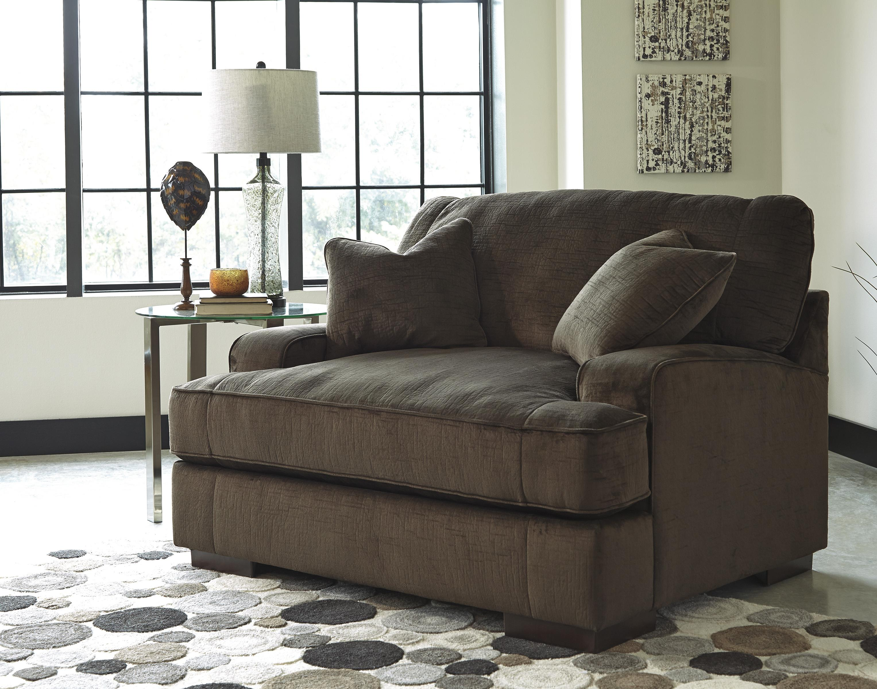 Contemporary Chair and a Half & Ottoman by Benchcraft