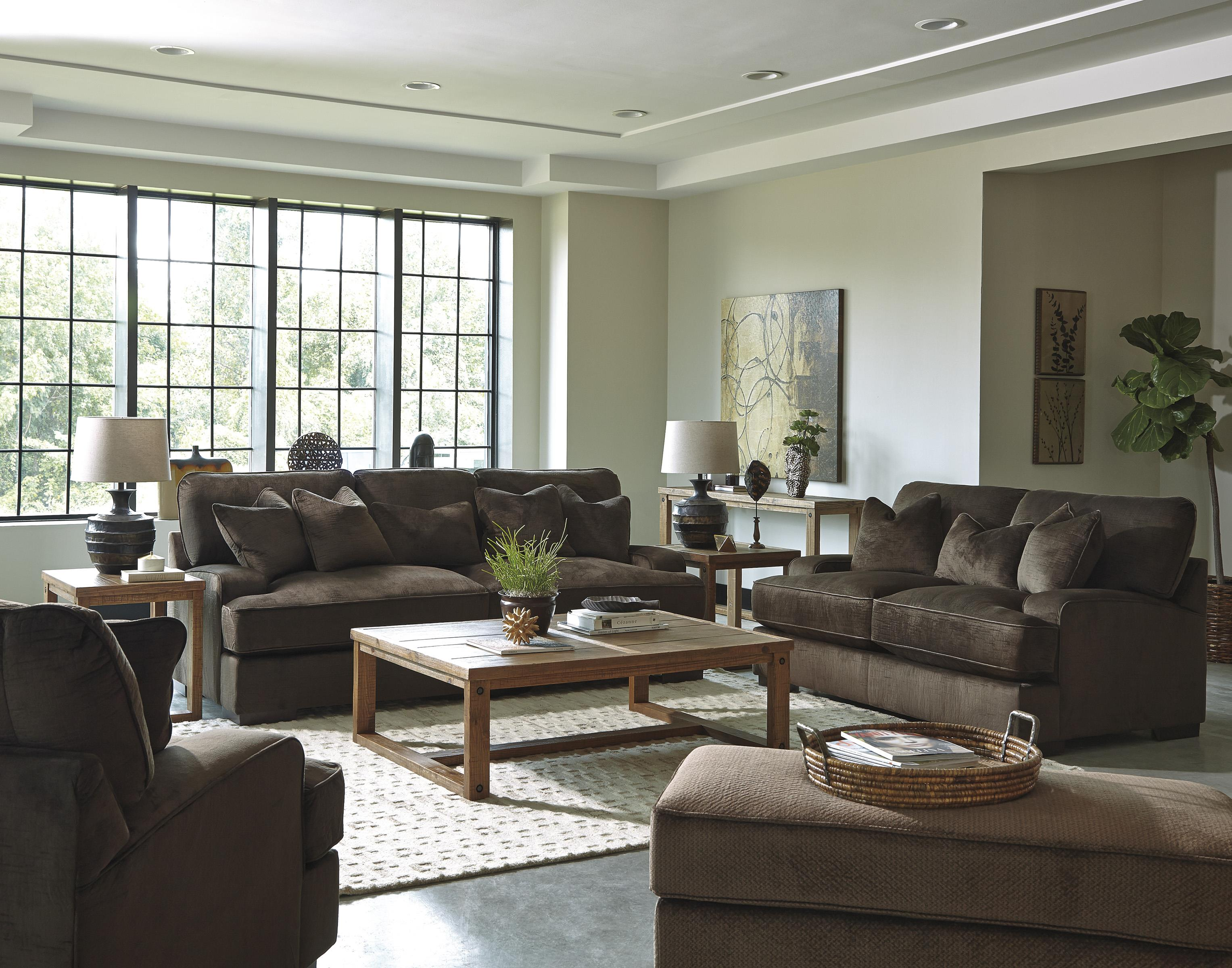 Contemporary Chairs For Living Room Contemporary Chair And A Half Ottoman By Benchcraft Wolf And