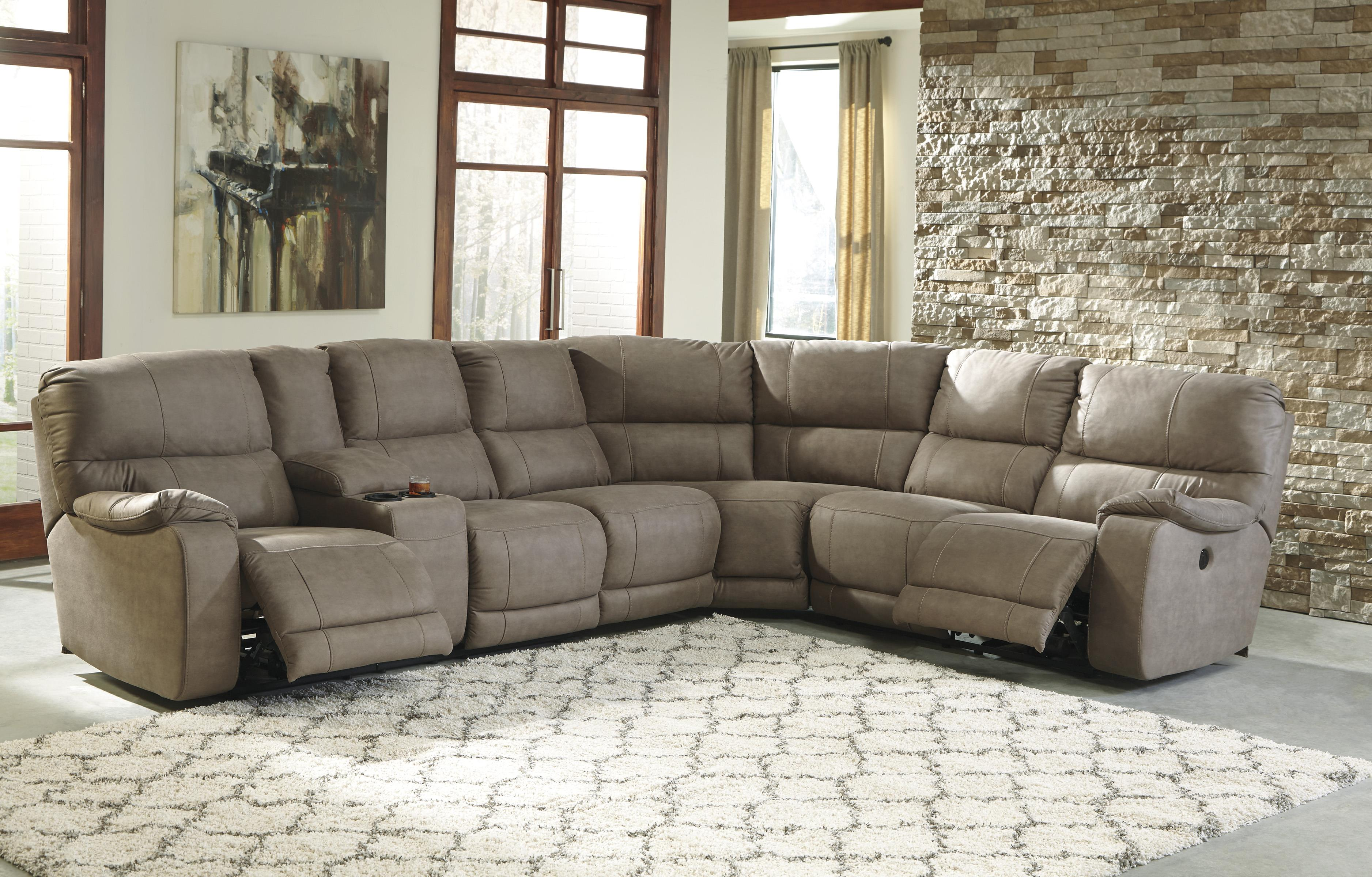 Power Reclining Sectional with Console & Power Reclining Sectional with Console by Benchcraft | Wolf and ... islam-shia.org