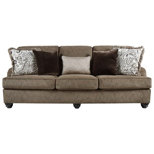 Transitional Queen Sofa Sleeper with English Arms