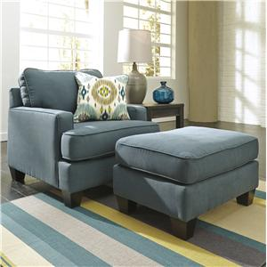 Benchcraft Brileigh - Teal Chair & Ottoman