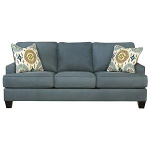 Benchcraft Brileigh - Teal Queen Sofa Sleeper