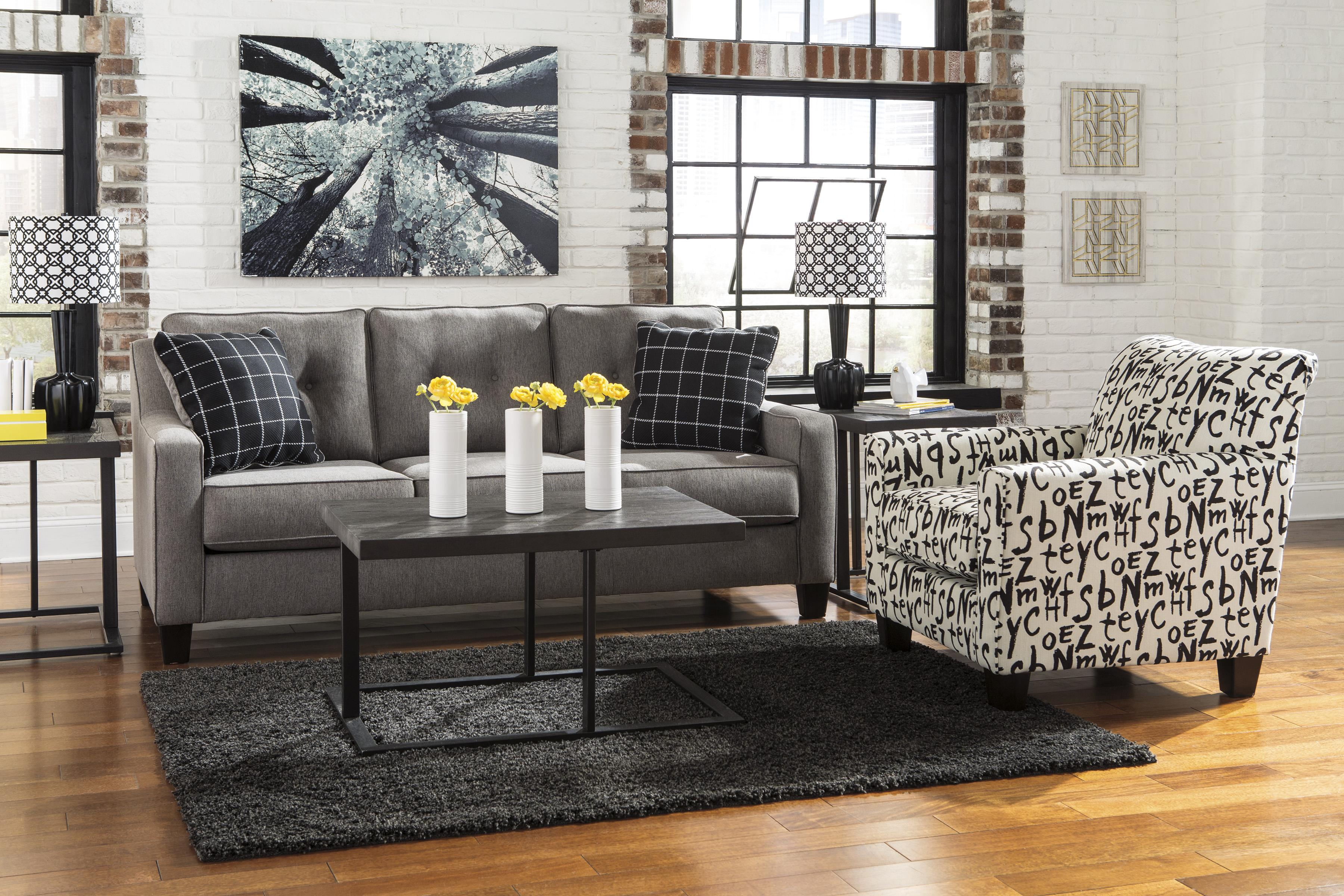 Accent Chair with Graffiti Style Text Fabric by Benchcraft