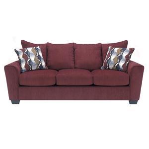 Benchcraft Brogain - Burgundy Queen Sofa Sleeper