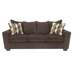Benchcraft Brogain - Walnut Queen Sofa Sleeper